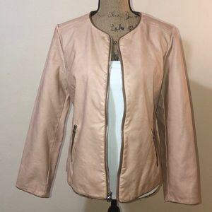 Chico's Faux Leather Jacket Sz 1/Medium
